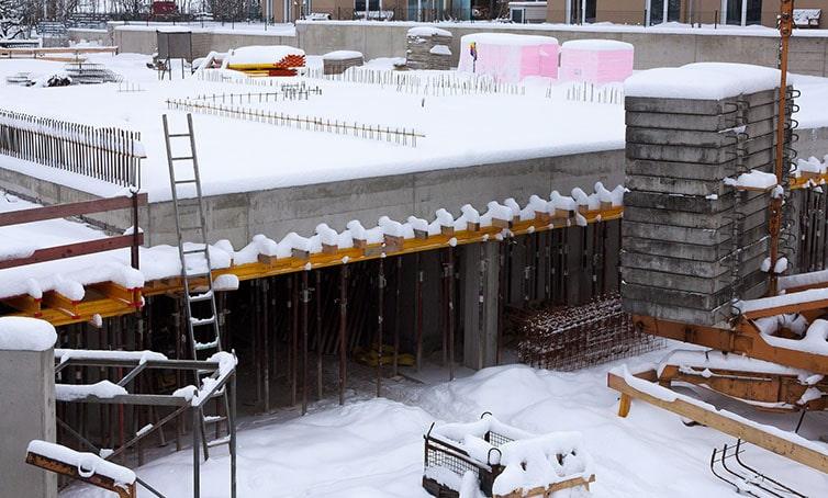 город зима бетон